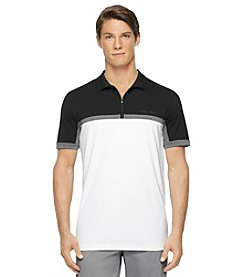 Calvin Klein Men's Short Sleeve Color Block Pique Polo