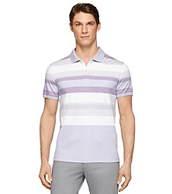 Calvin Klein Men's Short Sleeve Road Map Stripe Polo