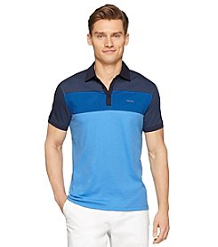 Calvin Klein Men's Short Sleeve Tri Color Block Polo