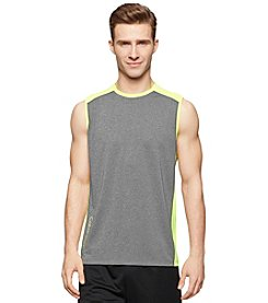 Calvin Klein Performance Men's Sleeveless Core Reflective Color Block Muscle Tee