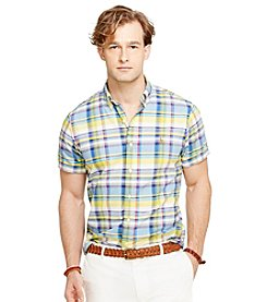 Polo Ralph Lauren® Men's Short Sleeve Plaid Button Down Shirt