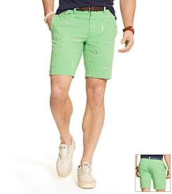 Polo Ralph Lauren® Men's Flat Front Greenwich Shark Shorts