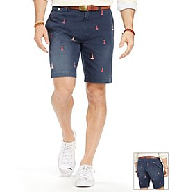 Polo Ralph Lauren® Men's Flat Front Greenwich Lighthouse Shorts