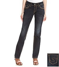 Silver Jeans Co. Suki Mid Rise Straight Legged Jeans