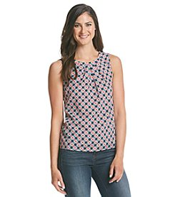 Nine West® Pintuck Neckline Cami
