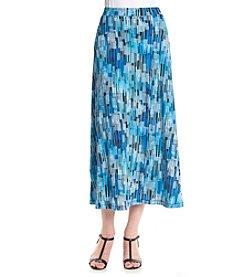 Kasper® Midi Printed A-Line Skirt