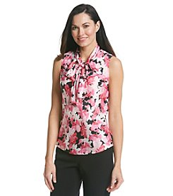 Nine West® Floral Print Bow Blouse