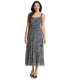 Kasper® Chiffon Tiered Maxi Dress