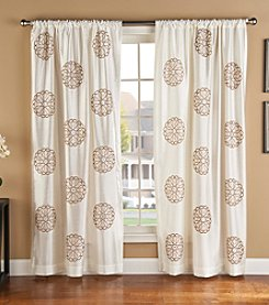 Bedford Manor Brittany Rod Pocket Lined Window Curtain