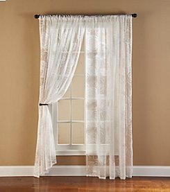 Bedford Manor Floral Lace Rod Pocket Window Curtain