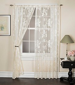 Bedford Manor Rose Lace Rod Pocket Window Curtain