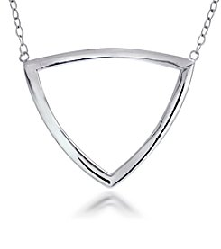 Designs by FMC Sterling Silver Triangle Pendant Necklace