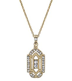 Downton Abbey® Goldtone Crystal Pendant Necklace