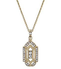 Downton Abbey® Goldtone Crystal Pendant Necklace