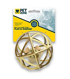 Pet Zone® Ball of Furry Fury™ Cat Toy