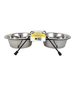 Pet Zone® EAT! Double Diner 2-cup Dog Feeder