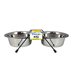 Pet Zone® EAT! Double Diner 4-cup Dog Feeder