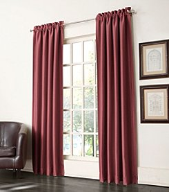 Sun Zero™ Antique Satin Rod Pocket Room Darkening Window Curtain