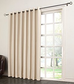 Sun Zero™ Antique Satin Grommet Room Darkening Patio Curtain
