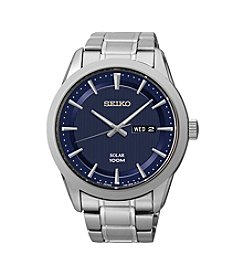 Seiko® Men's Silvertone Stainless Steel Solar Watch
