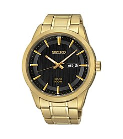 Seiko® Men's Goldtone Stainless Steel Solar Watch