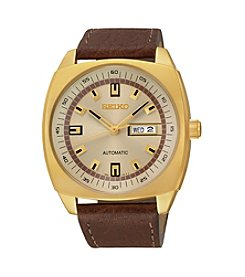 Seiko® Men's Goldtone Stainless Steel Automatic Watch