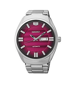 Seiko® Men's Silvertone Stainless Steel Automatic Watch