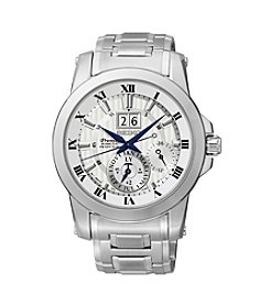Seiko® Men's Silvertone Stainless Steel Kinetic Perpetual Watch