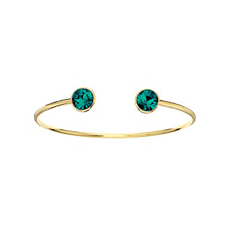 OroClone 10mm December Birthstone Bangle with Blue Zircon Swarovski® Crystal