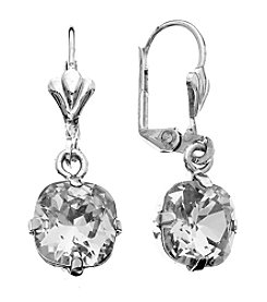 OroClone Cushion Cut Swarovski® Crystal Earrings in Clear Crystal
