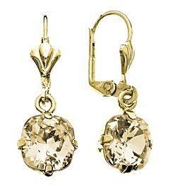 OroClone Cushion Cut Swarovski® Crystal Earrings in Golden Shadow Crystal