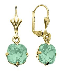 OroClone Cushion Cut Swarovski® Crystal Earrings in Pacific Opal Crystal