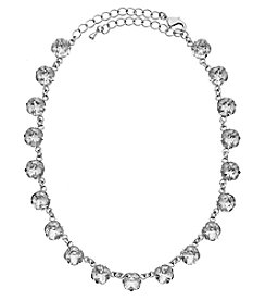 OroClone Cushion Cut Swarovski® Crystal Necklace in Clear Crystal