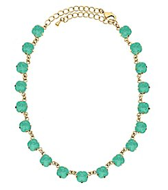 OroClone Cushion Cut Swarovski® Crystal Necklace in Pacific Opal Crystal