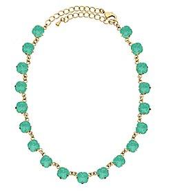 OroClone Cushion Cut Swarovski® Crystal Necklace in Pacific Opal Crystal