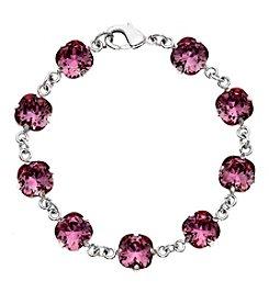 OroClone Cushion Cut Swarovski® Crystal Bracelet in Antique Pink Crystal