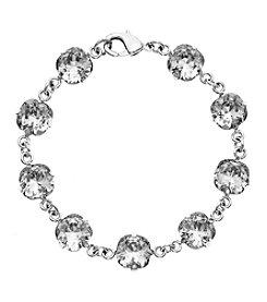 OroClone Cushion Cut Swarovski® Crystal Bracelet in Clear Crystal