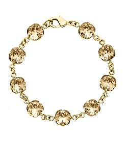 OroClone Cushion Cut Swarovski® Crystal Bracelet in Golden Shadow Crystal