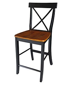 International Concepts X-back Counter Height Stool