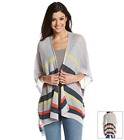 Jack Striped Poncho Cardigan