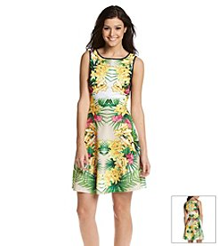 XOXO® Tropical Fit And Flare Dress