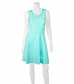 A. Byer Necklace Fit And Flare Dress