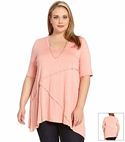 Karen Kane® Plus Size Handkerchief Top