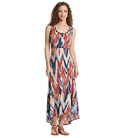 Notations® Biadere Print High-Low Dress