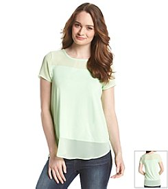 Vince Camuto® Chiffon Detail Top