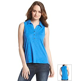Vince Camuto® Mixed Media Utility Shirt