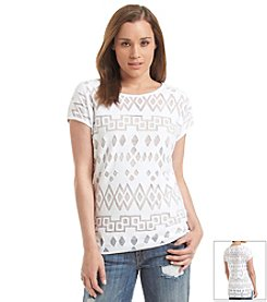 Vince Camuto® Sheer Terry Top