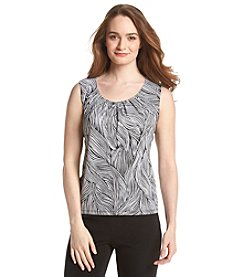 Kasper® Pleat Neck Top