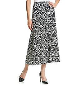Kasper® Ikat Printed A-Line Skirt