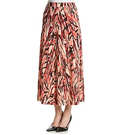 Kasper® Abstract Print A-Line Skirt